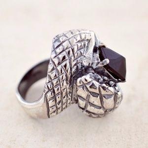 Iosselliani Bona Drag Black Onyx Serpent Ring 9